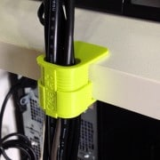 cable clips 3D printed on an ultimaker.