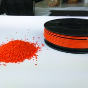 ABS and PLA filament and pellets.
