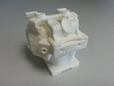 PA 12 polyamide surgical guide 3D printed
