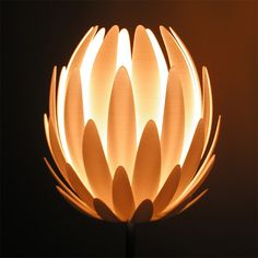 Lilly.MGX Lamp by Jeanne Kytannen and Materialise made in PA 12.