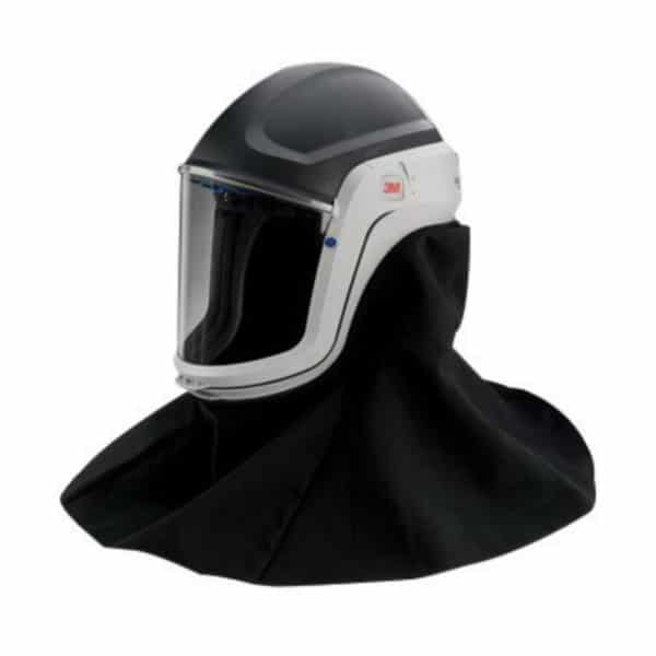 respiratory hood with polycarbonate face mask
