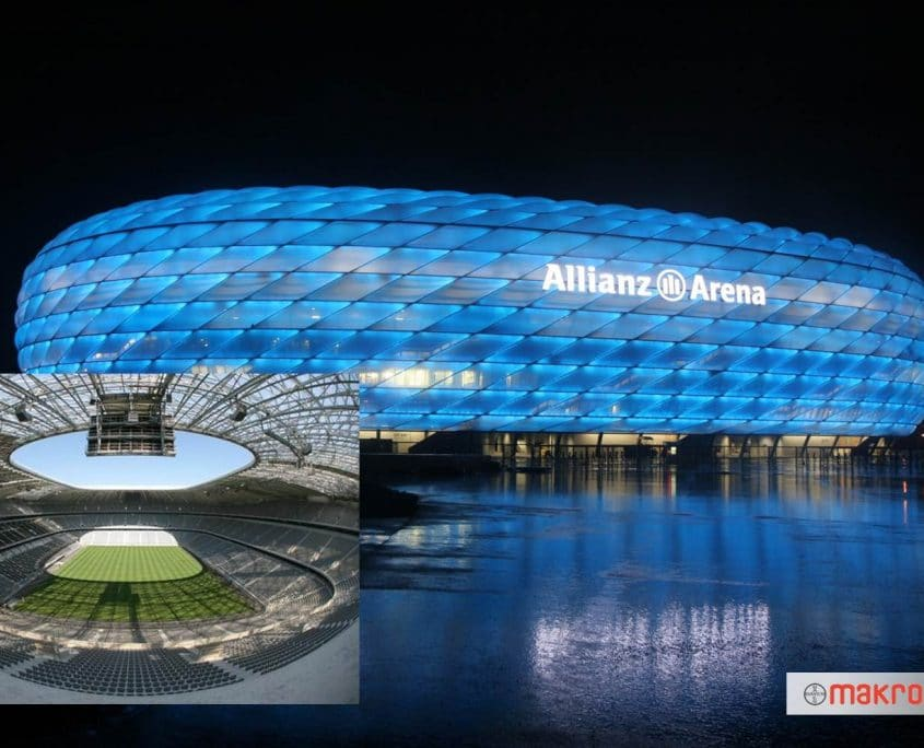 Covestro's Makrolon polycarbonate sheets are used in outdoor applications like the cladding for the Allianz Arena
