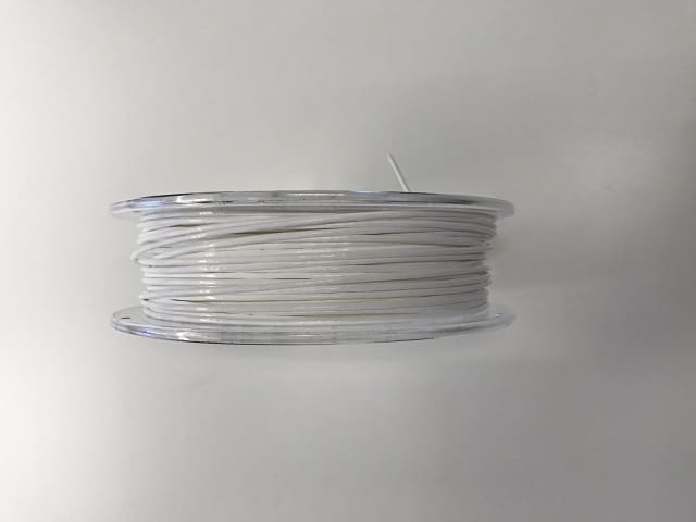 A spool of PC 3D printing filament made on a 3devo filament extruder