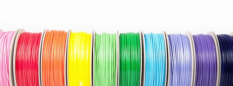 Spools of colored filament